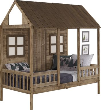 Shady Porch Brown Twin Jr. Loft Bed
