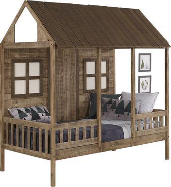Shady Porch Brown Twin Jr. Loft Bed