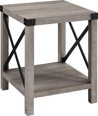 Shamblin Gray End Table