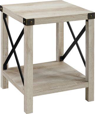 Shamblin White End Table