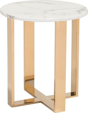 Shenley Trace White End Table