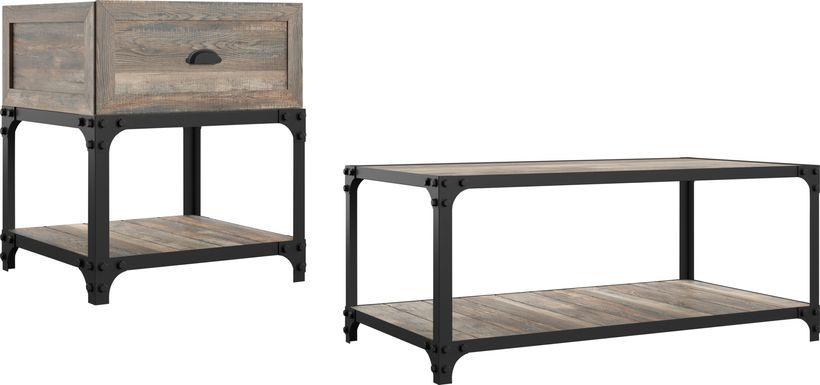 Shiaway Oak 2pc. Occasional Table Set