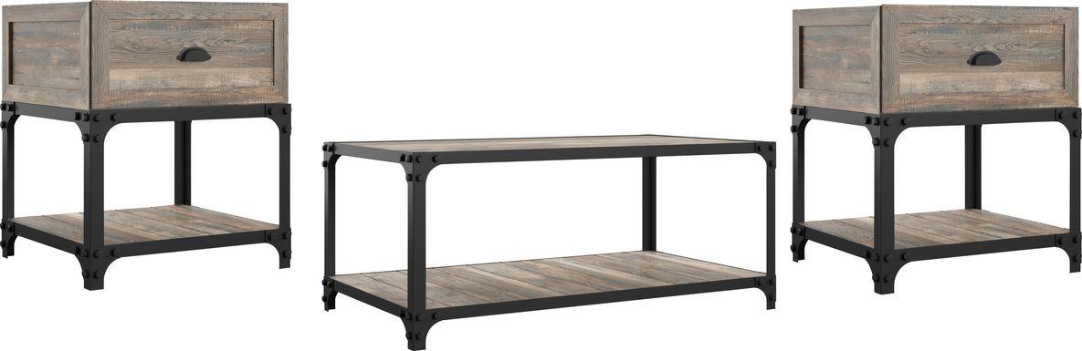 Shiaway Oak 3pc. Occasional Table Set