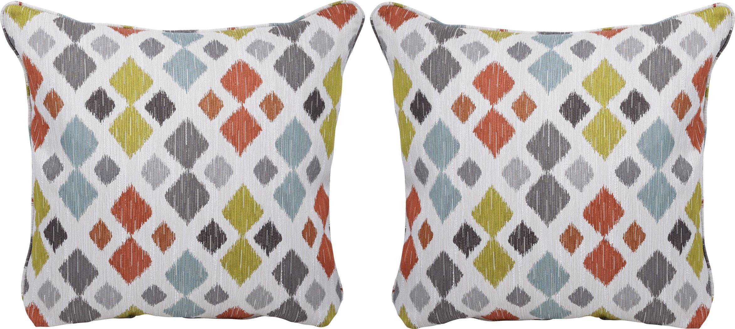Shibui Tangerine Accent Pillows (Set of 2)