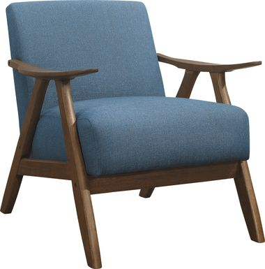Shinano Blue Accent Chair
