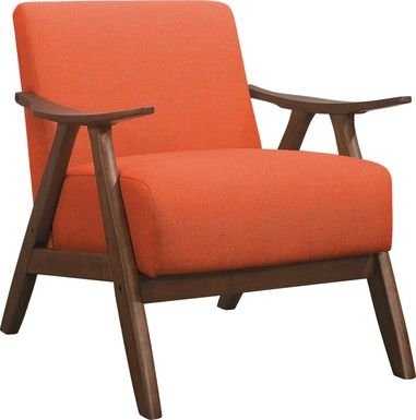 Shinano Orange Accent Chair