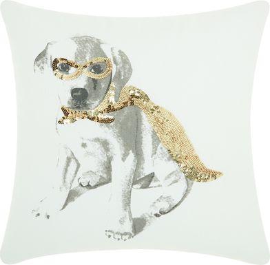 Kids Shining Super Dog Gold Accent Pillow