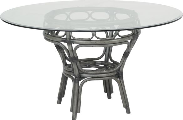 Cindy Crawford Home Shorecrest Gray 48 in. Round Dining Table