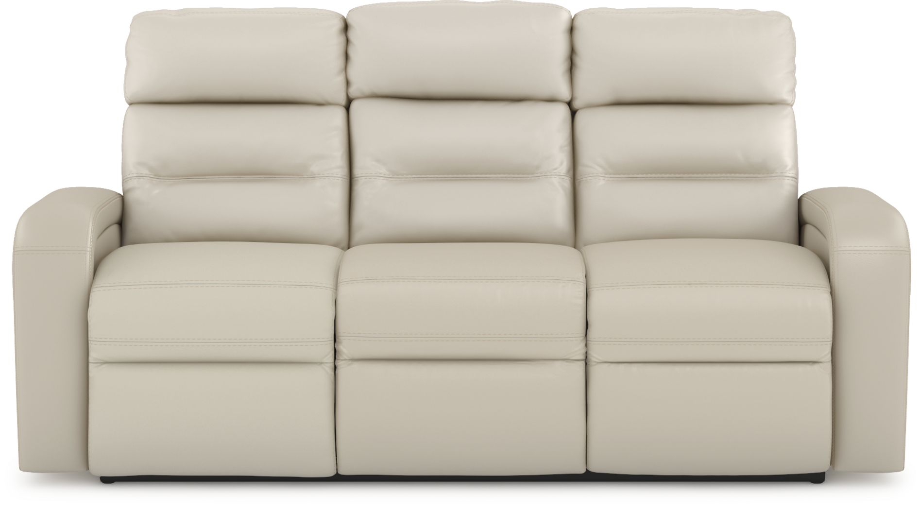 Sierra Madre Beige Leather Dual Power Reclining Sofa