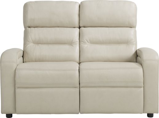Sierra Madre Beige Leather Loveseat