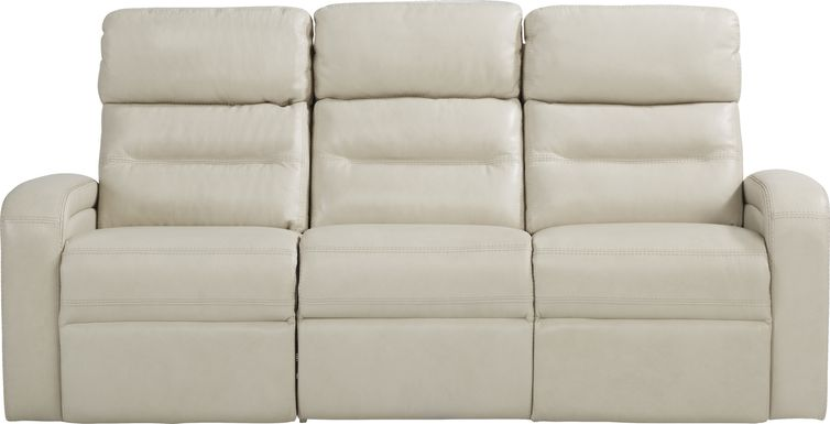 Sierra Madre Beige Leather Reclining Sofa