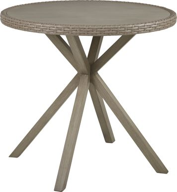 Siesta Key Driftwood 40 in. Round Outdoor Balcony Height Dining Table