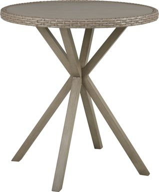 Siesta Key Driftwood 40 in. Round Outdoor Bar Height Dining Table