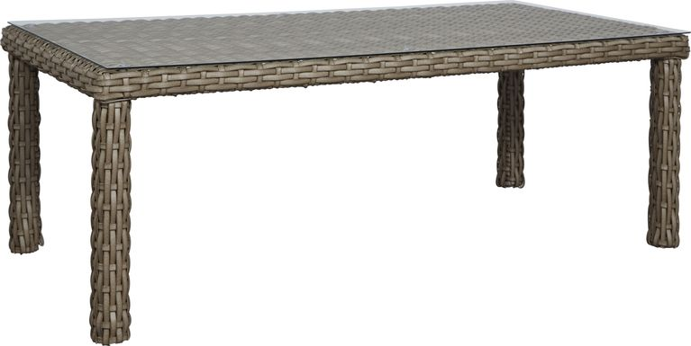Siesta Key Driftwood 84 in. Rectangle Outdoor Dining Table
