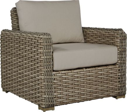 Siesta Key Driftwood Outdoor Chair with Sand Cushions