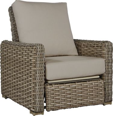 Siesta Key Driftwood Outdoor Recliner with Sand Cushions