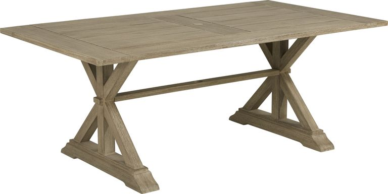 Siesta Key Light Wood 76 in. Rectangle Outdoor Dining Table