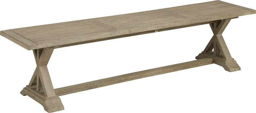 Siesta Key Light Wood Outdoor Dining Bench