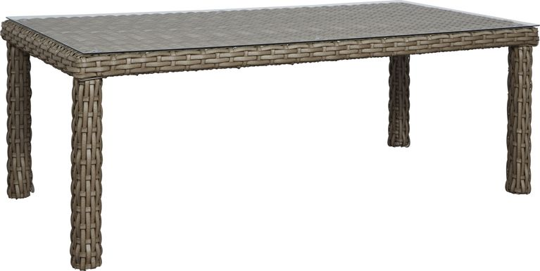 Siesta Key Driftwood 72 in. Rectangle Outdoor Dining Table