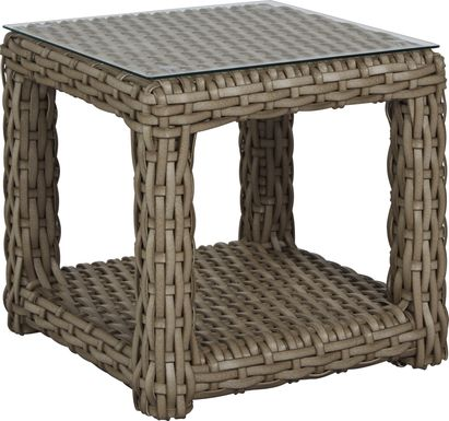 Siesta Key Driftwood Outdoor End Table