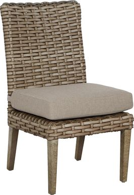 Siesta Key Driftwood Outdoor Side Chair with Sand Cushion
