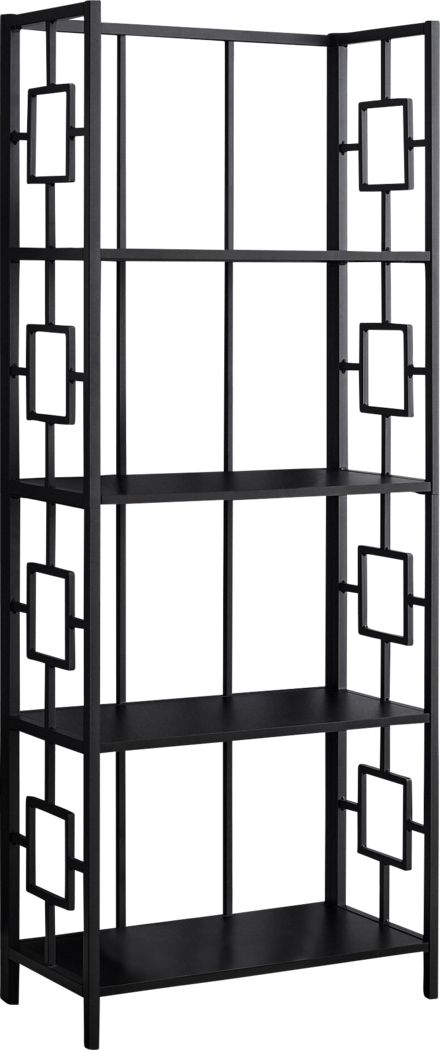 Silkriver Black Bookcase