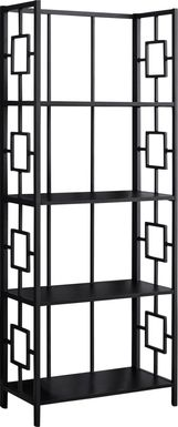 Silkriver Black Bookcase