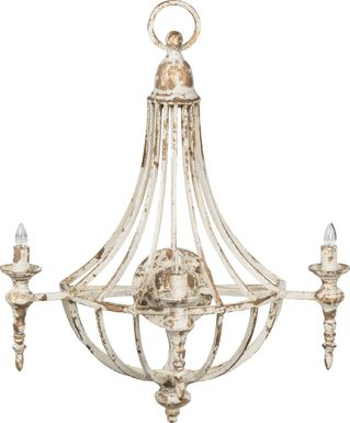 Silver Meadows White Sconce