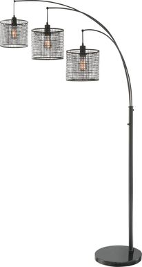 Silverberry Black Floor Lamp