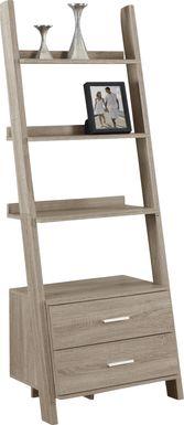 Singleton Taupe Bookcase