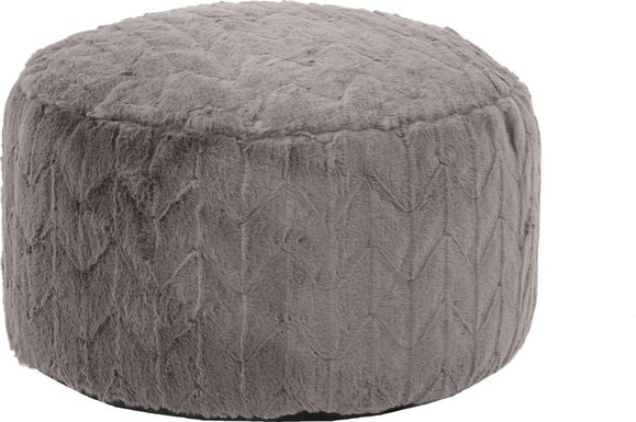Sishane Gray Foot Pouf