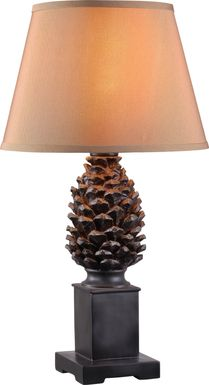 Sitka Spruce Brown Outdoor Table Lamp