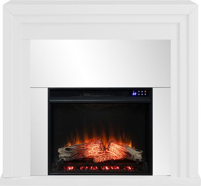 Skyflower IV White 44 in. Console With Electric Fireplace
