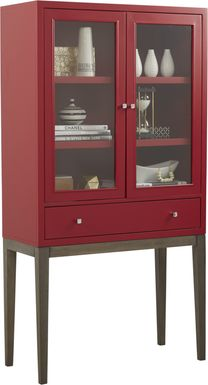 Skyler Crimson Display Cabinet