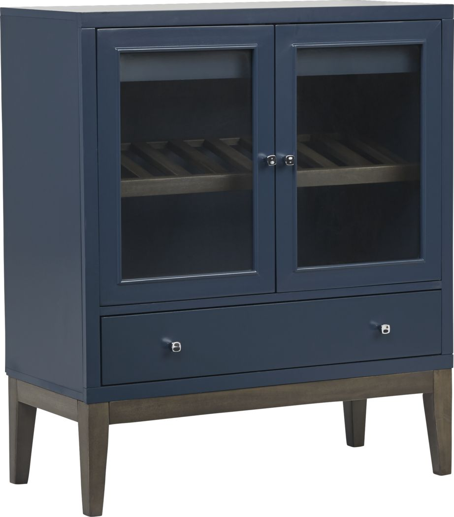 Skyler Navy Wine Cabinet