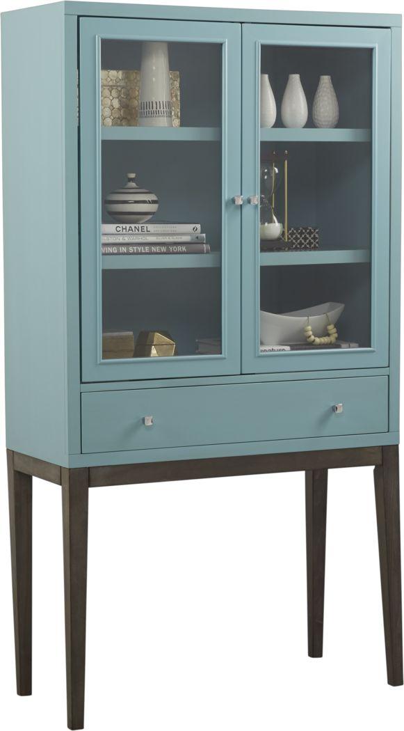 Skyler Spa Blue Display Cabinet