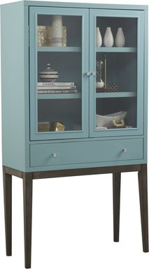 Skyler Spa Blue Display Cabinet