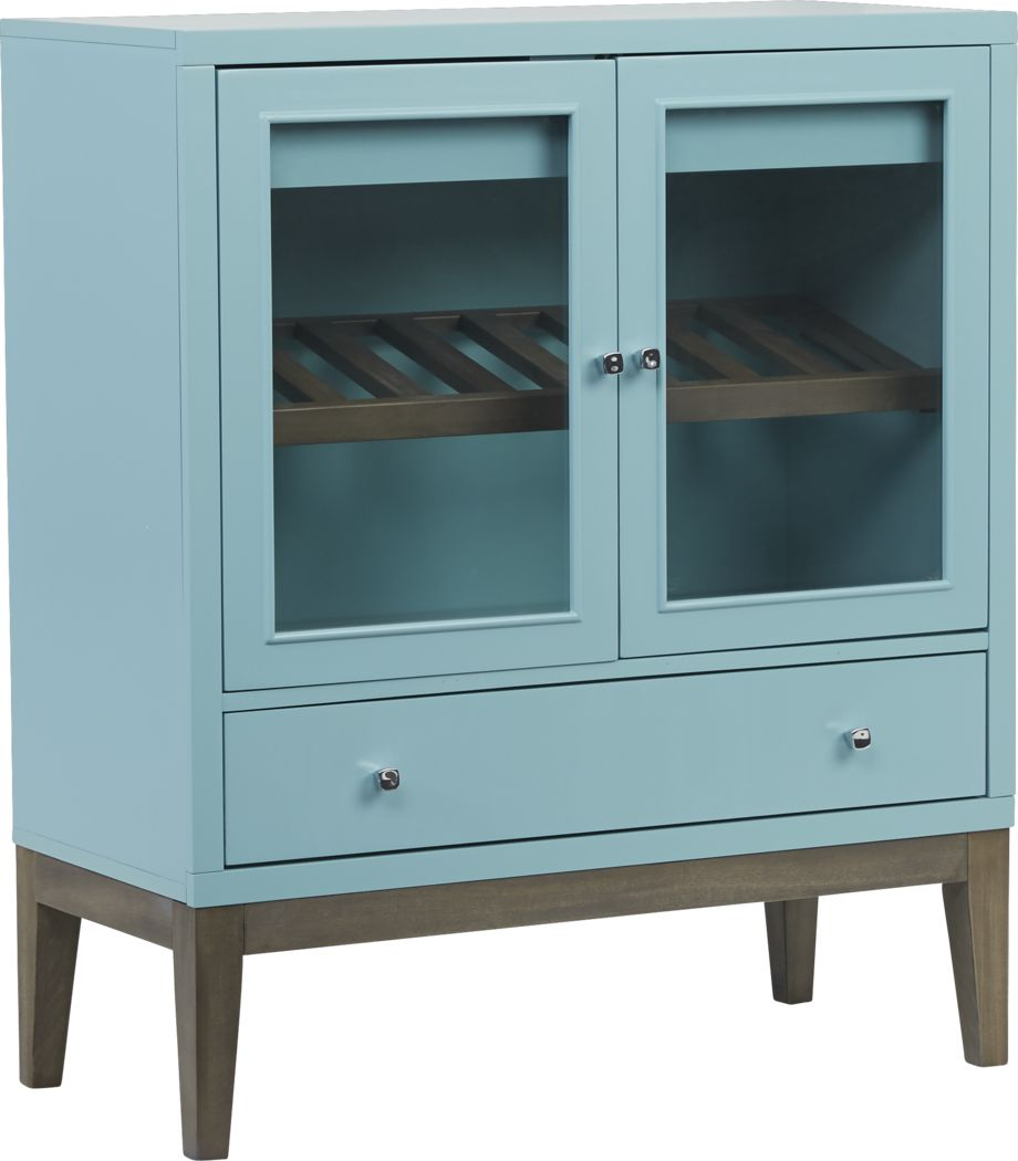 Skyler Spa Blue Wine Cabinet