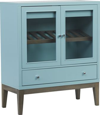 Skyler Spa Blue Wine Cabinet