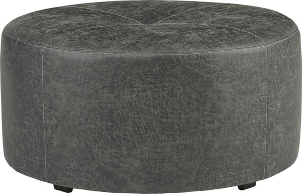 Skyline Park Gray Cocktail Ottoman