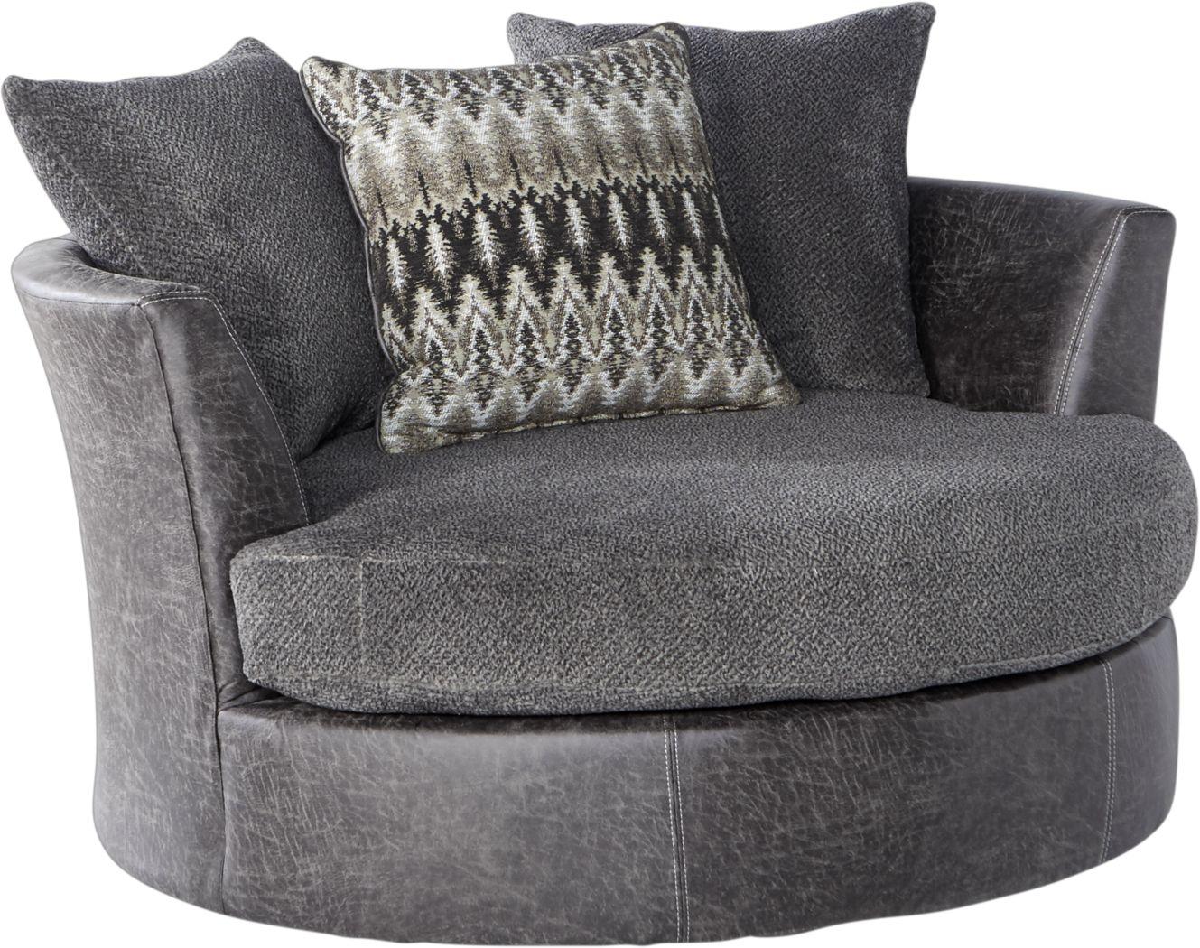 Skyline Park Gray Swivel Chair