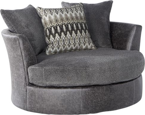 Skyline Park Gray Swivel Chair