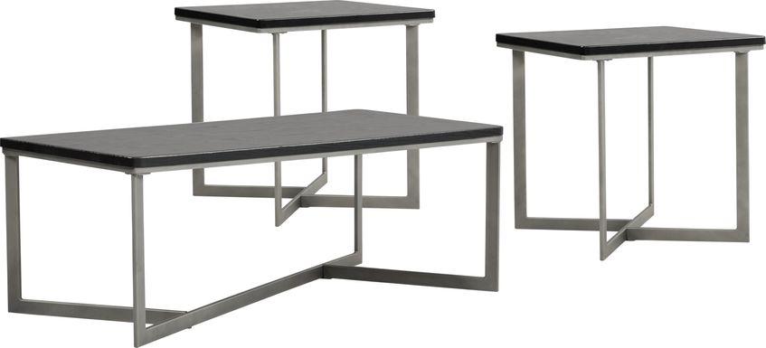 slater black 3 piece table set
