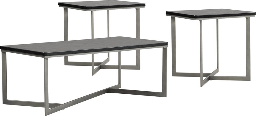 Slater Black 3 Pc Table Set