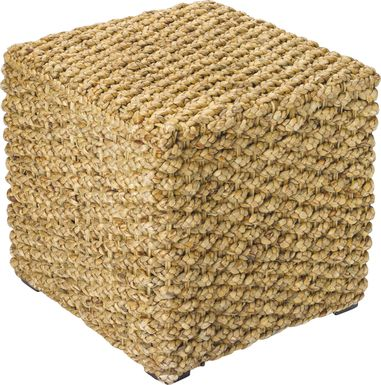 Slayton Natural Pouf