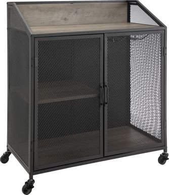 Slopeside Gray Bar Cart