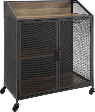 Slopeside Oak Bar Cart