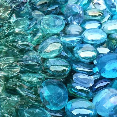 Smooth Reflections I Blue Artwork