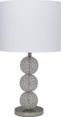 Snowball Silver Lamp