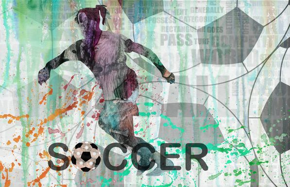 Soccer Fan Green Artwork
